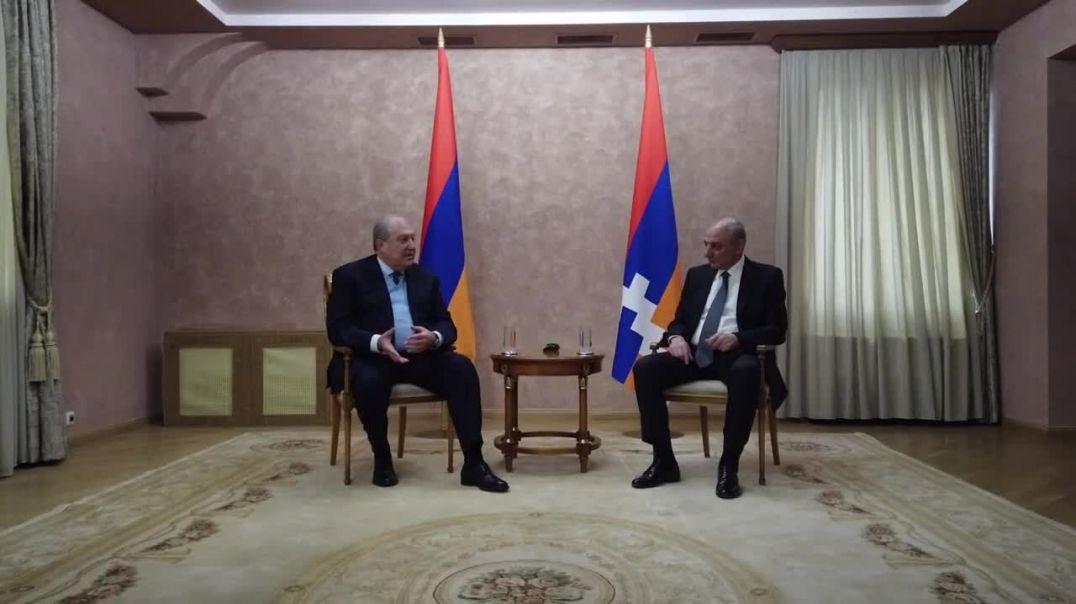 Նախագահ Արմեն Սարգսյանը հանդիպում է ունեցել Արցախի նախագահ Բակո Սահակյանի հետ