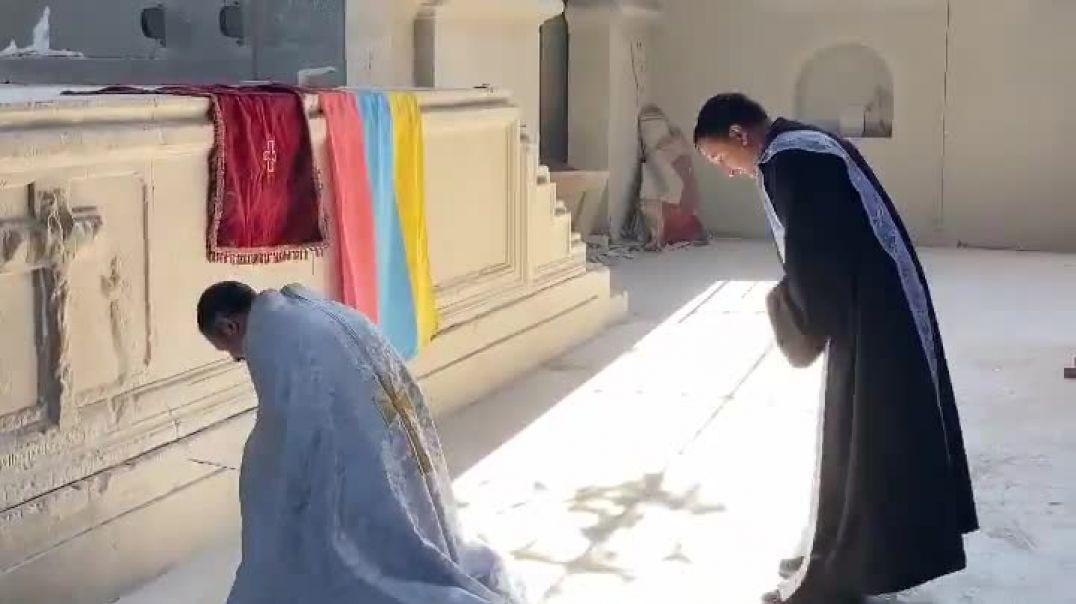 Շուշիի Սուրբ Ղազանչեցոց եկեղեցում պատարագները շարունակվում են