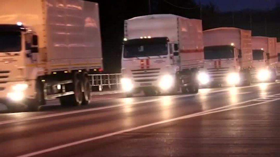 Ավտոշարասյուները Ռոստովի մարզից Ստեփանակերտ են տեղափոխում 345 տոննա մարդասիրական օգնություն