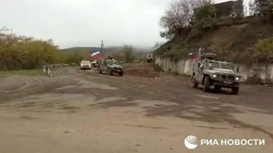 Ռուս խաղաղապահներն ադրբեջանցի զինվորներին Շուշիից ուղեկցեցին դեպի իրենց դիրքեր