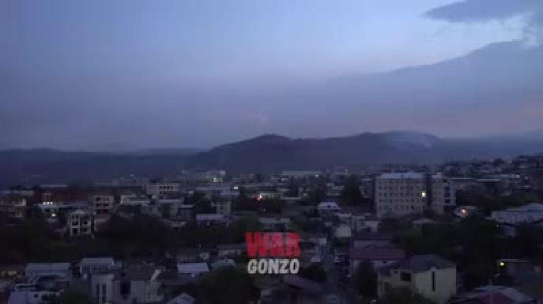 րցախի ՊԲ ՀՕՊ կողմից Ստեփանակերտի երկնքում ադրբեջանական ԱԹՍ-ի խոցումը