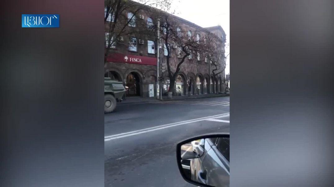 Ռուս խաղաղապահները՝ Երևանի փողոցներում