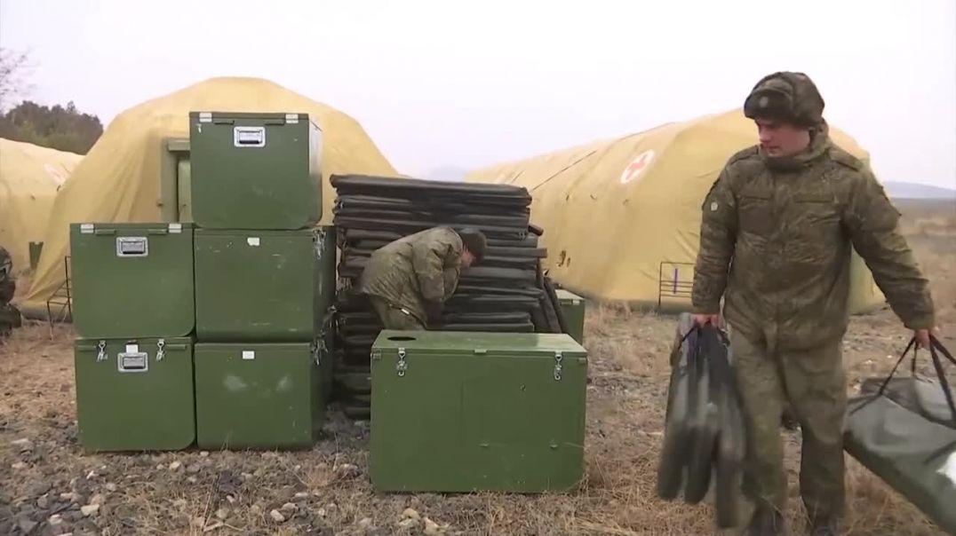Российские миротворцы развернули в Нагорном Карабахе полевой госпиталь