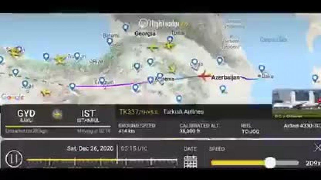 Թուրքական Turkish Airlines- ի առաջատար փոխադրողն առաջին անգամ օգտագործում է Հայաստանի օդային տարածքը