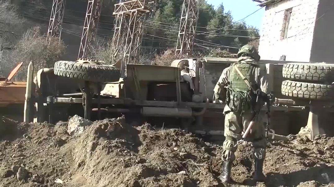 Разминирование местности и восстановление линий электропередач в Нагорном Карабахе