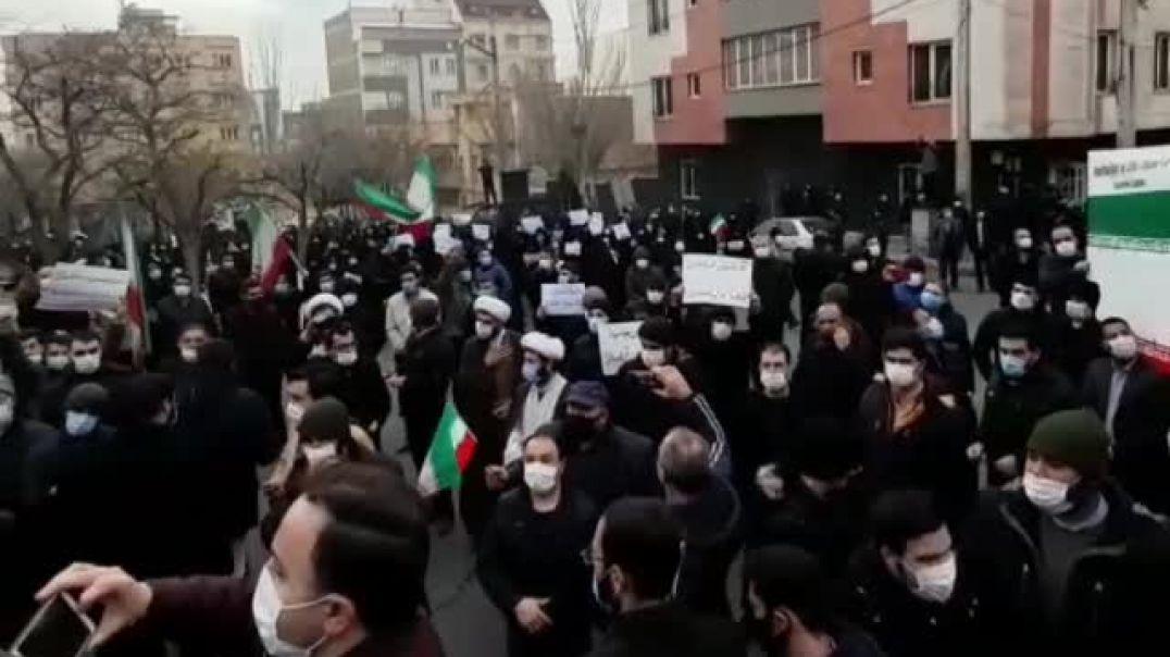 ՏԵՍԱՆՅՈՒԹ. Իրանում Թուրքիայի հյուպատոսության դիմաց բողոքի ցույց է անցկացվում
