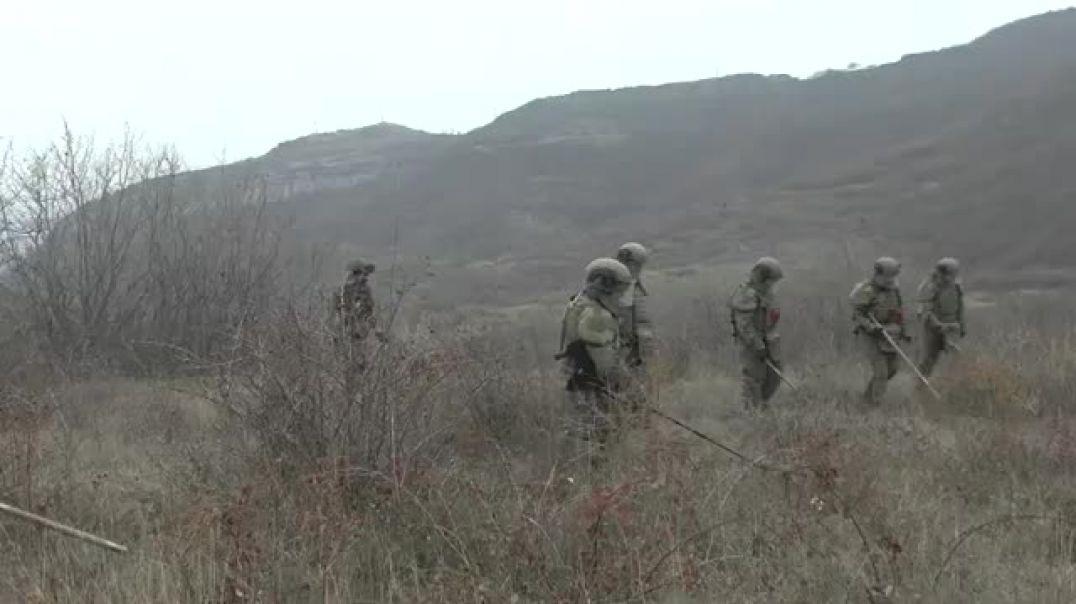 ՌԴ զինծառայողները վնասազերծում են կասսետային ռումբերն Արցախում