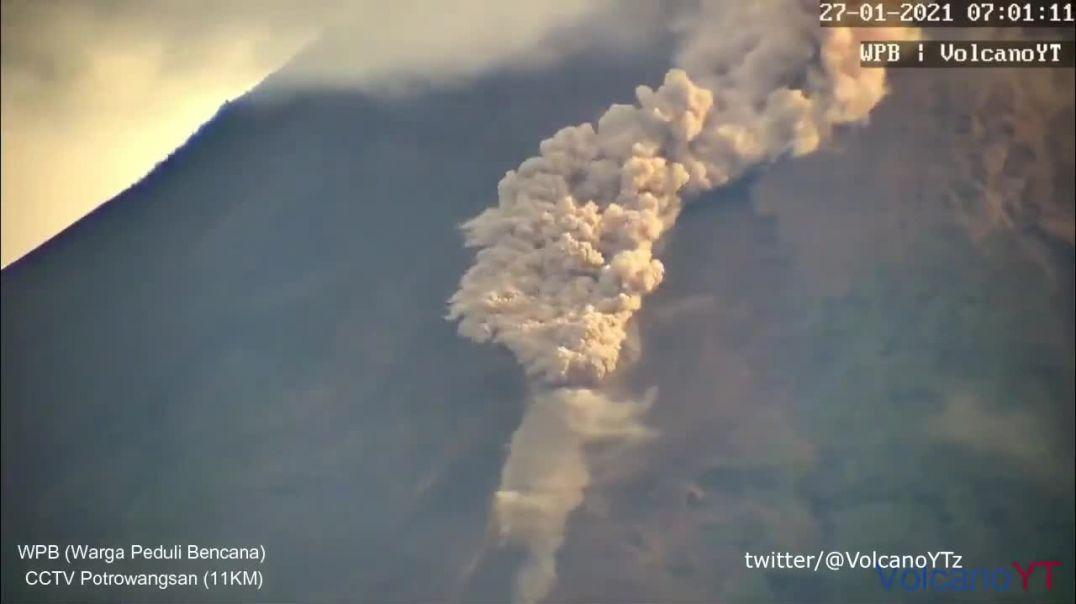 Pyroclastic flows, Mt Merapi Java Indonesia
