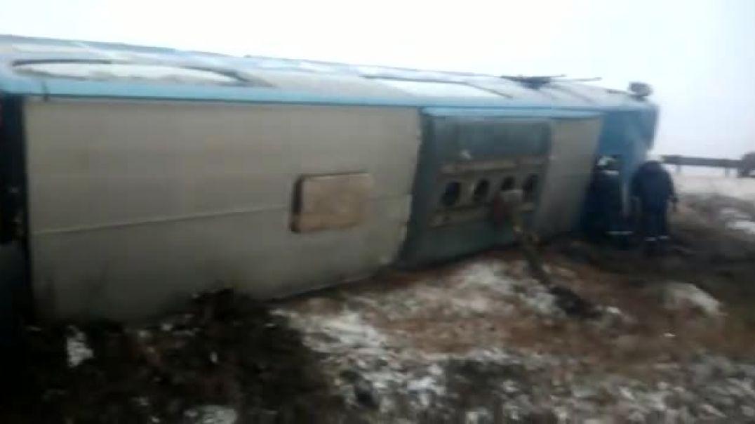 Ռուսաստանում ուղևորատար ավտոբուս է շրջվել. կան զոհեր