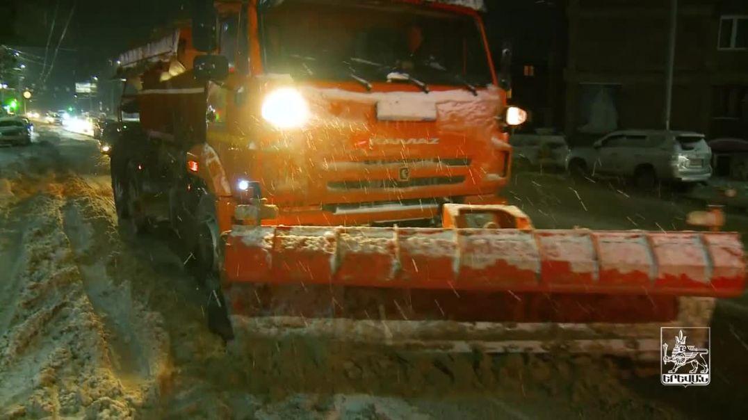 Երևանում ձնամաքրման աշխատանքներում ներգրավվել են 51 միավոր հատուկ տեխնիկա և շուրջ 300 աշխատակից