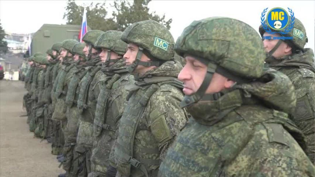 Ռուս խաղաղապահները սկսել են երթով շարժվել դեպի ռուս-թուրքական դիտորդական կենտրոնի տեղակայման տարածք