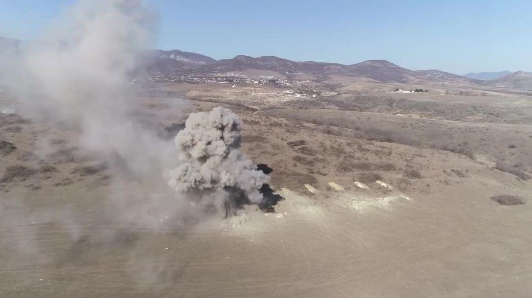 Уничтожение взрывоопасных предметов, обнаруженных в Нагорном Карабахе