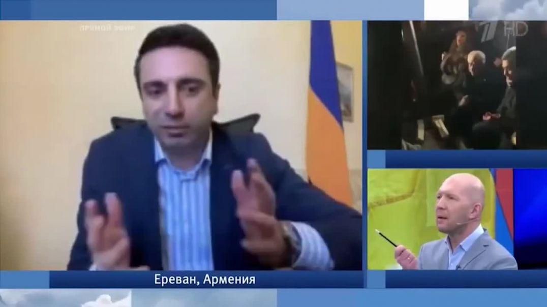 Ռուսական «Առաջին ալիքի» լրագրողները բացահայտ ծաղրում են Ալեն Սիմոնյանին