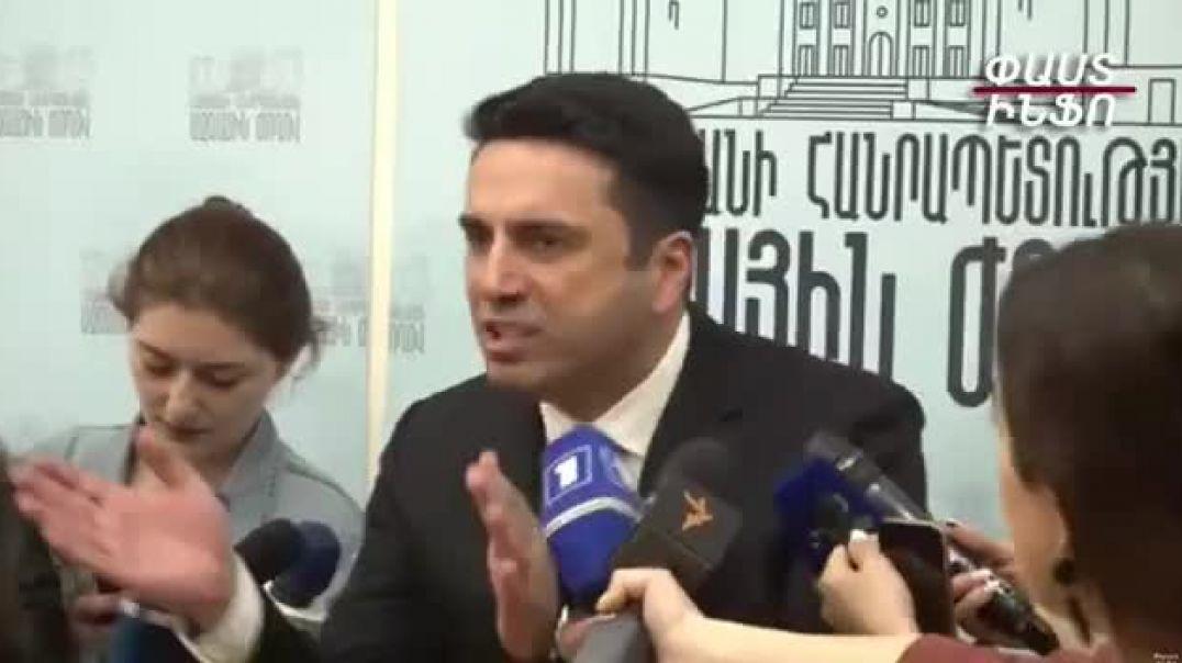 Ծափահարություններ. Ալեն Սիմոնյանի և լրագրողի միջև բանավեճ սկսվեց
