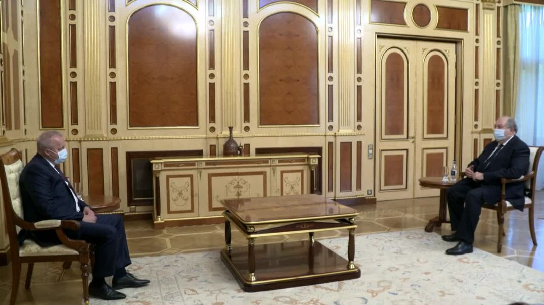 Նախագահ Արմեն Սարգսյանն ընդունել է Հայաստանում Ռուսաստանի դեսպան Սերգեյ Կոպիրկինին