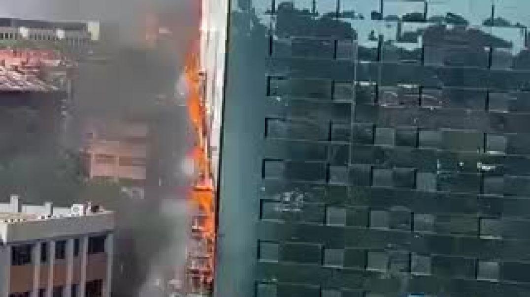 ՏԵՍԱՆՅՈՒԹ. Մադրիդում հյուրանոց է այրվում