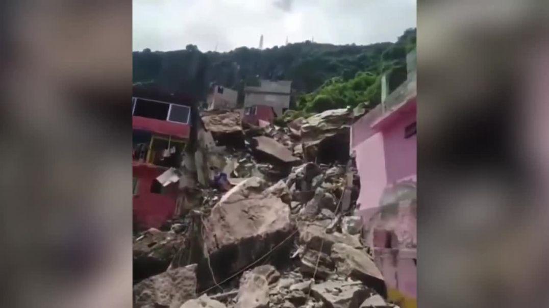 Մեքսիկայում ժայռը փլուզվել է անմիջապես բնակելի շենքերի վրա